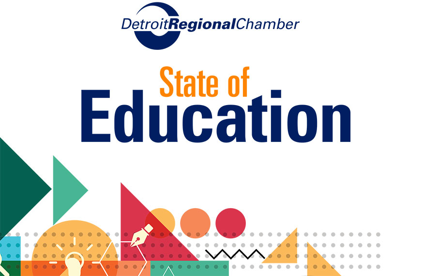 Cover of the Detroit Regional Chamber State of Education report.